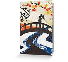 Geisha on Bridge Greeting Card