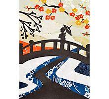 Geisha on Bridge Photographic Print