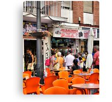 Guess Who Found the Camera Shop. Canvas Print