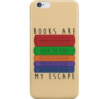 Books Are My Escape iPhone Case/Skin