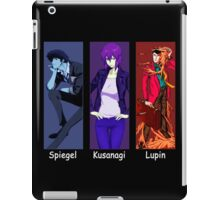 cowboy bebop ghost in the shell lupin the 3rd spike spiegel motoko kusanagi anime manga shirt iPad Case/Skin