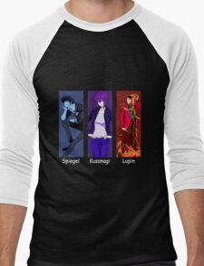 cowboy bebop ghost in the shell lupin the 3rd spike spiegel motoko kusanagi anime manga shirt Men's Baseball ¾ T-Shirt