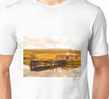 Wee pier on the water Unisex T-Shirt