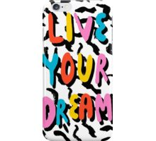 Ya Heard - 1980's throwback retro pattern memphis-style hipster bright colorful pop art minimal rad iPhone Case/Skin