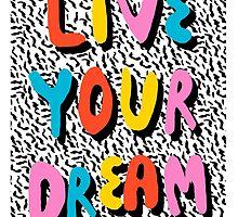 Ya Heard - 1980's throwback retro pattern memphis-style hipster bright colorful pop art minimal rad by wackadesigns