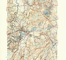 Massachusetts  USGS Historical Topo Map MA Ayer 351507 1939 31680 by wetdryvac