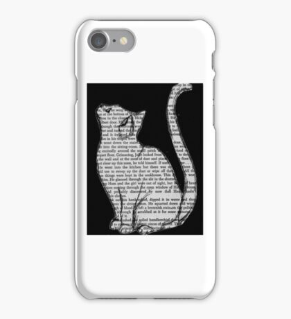 Black cat large iPhone Case/Skin