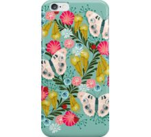 Buckeye Butterly Florals by Andrea Lauren  iPhone Case/Skin