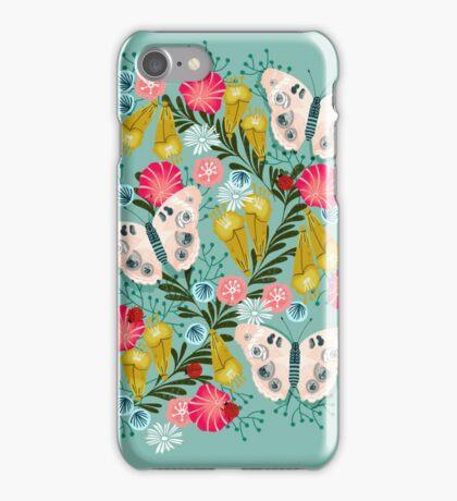 Buckeye Butterly Florals by Andrea Lauren  iPhone Case/Skin