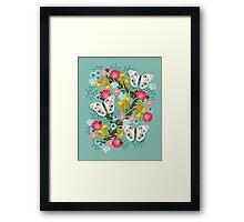 Buckeye Butterly Florals by Andrea Lauren  Framed Print