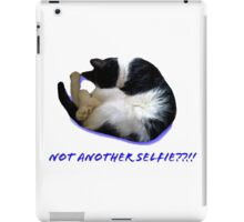 Not Another Selfie??!! - Cat iPad Case/Skin