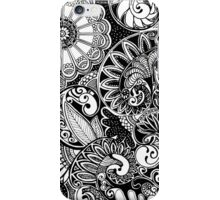 Black and white zentangle iPhone Case/Skin