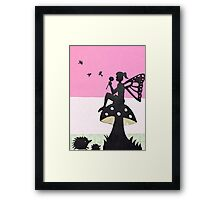 Fairy with Thistle Framed Print