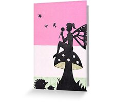 Fairy with Thistle Greeting Card