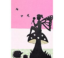 Fairy with Thistle Photographic Print