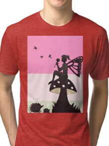 Fairy with Thistle Tri-blend T-Shirt