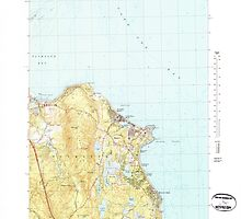 Massachusetts  USGS Historical Topo Map MA Manomet 351071 1977 25000 by wetdryvac