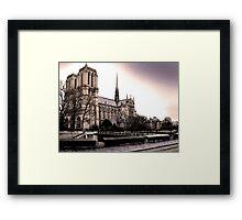 Notre Dame De Paris Is A Landmark Framed Print