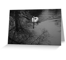 white on black Greeting Card