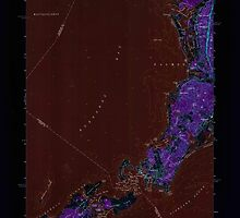 Massachusetts  USGS Historical Topo Map MA Woods Hole 350776 1967 24000 Inverted by wetdryvac