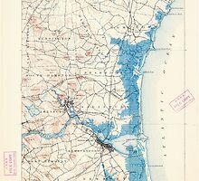 Massachusetts  USGS Historical Topo Map MA Newburyport 352895 1894 62500 by wetdryvac