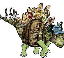 """Kegosaurus"" by ScribblePuff"