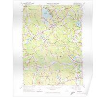 Massachusetts  USGS Historical Topo Map MA Norton 350405 1964 24000 Poster