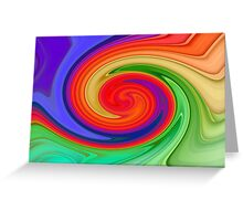 Ying Yang Rainbow Greeting Card