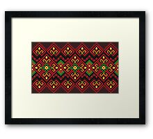 Candle Knitting Pattern Framed Print