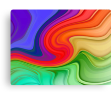 Ripples and Rainbows Canvas Print