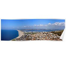 Panoramic view of Portland Dorset Poster