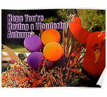 Wonderful Autumn Card Poster