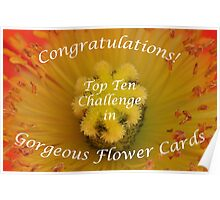 Gorgeous Flower Cards Top Ten Banner Poster