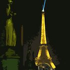 Interpretation Of The Eiffel Tower In Paris by Al Bourassa