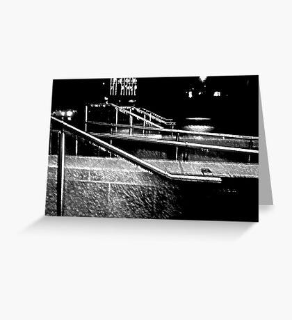 Rain & Rails Greeting Card