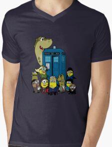 Doc Minion Generation 12 and Chums Mens V-Neck T-Shirt