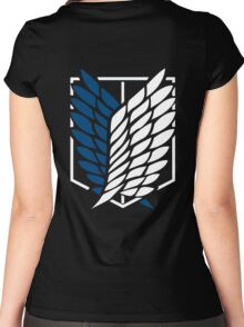 Attack on Titan Shingeki No Kyojin Scouting Legion Recon Corps Logo Cosplay Anime T Shirt Women's Fitted Scoop T-Shirt