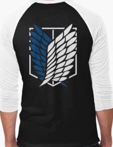Attack on Titan Shingeki No Kyojin Scouting Legion Recon Corps Logo Cosplay Anime T Shirt Men's Baseball ¾ T-Shirt