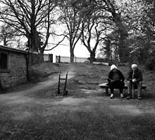 old couple near chatsworth house by Leticia Batty