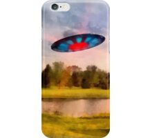 UFO On Golf Course by Raphael Terra iPhone Case/Skin
