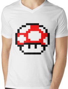 PIXEL - Super mushroom Mens V-Neck T-Shirt