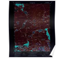 Massachusetts  USGS Historical Topo Map MA Hull 350220 1958 24000 Inverted Poster