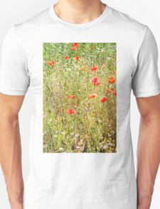 Red Poppies and Wild Flowers Unisex T-Shirt