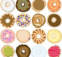 Sixteen Donuts of Awesome by art-pix