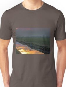 Heron In The Mist II Painting Unisex T-Shirt