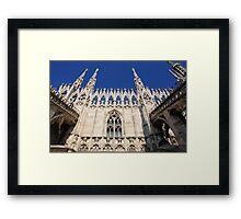Facade of Milan Duomo Framed Print