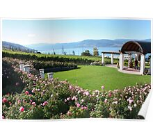 Rose Garden and Lower Portico  Poster