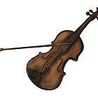 Violin illustration by Extreme-Fantasy