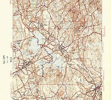 Massachusetts  USGS Historical Topo Map MA Medfield 351894 1946 31680 by wetdryvac