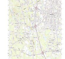 Massachusetts  USGS Historical Topo Map MA Brockton 20120606 TM by wetdryvac
